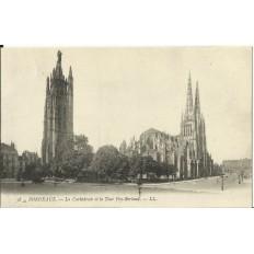 CPA: BORDEAUX, La Cathedrale et la Tour Pey-Berland, vers 1900