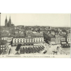 CPA: CLERMONT-FERRAND, Place de Jaude & Panorama, vers 1900