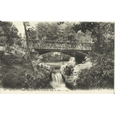 CPA: ROYAT,Pont Rustique sur la Tiretaine dans le Parc, vers 1900