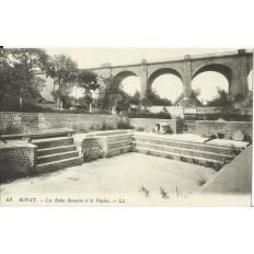 CPA: ROYAT, les Bains Romains et le Viaduc, vers 1900