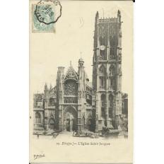 CPA: DIEPPE, l'Eglise Saint-Jacques, Etal de marchande, vers 1900