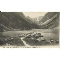CPA: CAUTERETS (environs),Le Lac de Gaube et le Vignemale, vers 1900