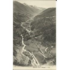 CPA: BAREGES, Route de Luz, Vallée du Bastan, vers 1900