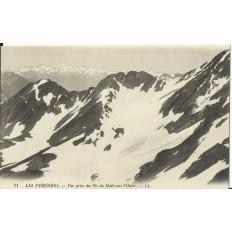 CPA: PYRENEES, Vue prise du Pic du Midi vers l'Ouest, vers 1900