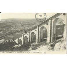 CPA: LOURDES, le Funiculaire du Pic du Jer, Grand Viaduc, vers 1900
