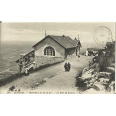CPA: LOURDES, Funiculaire du Pic du Jer, La Gare du Sommet, vers 1900