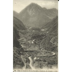 CPA: Route et Cheminde Fer de Pierrefitte à Cauterets, le Limaçon, vers 1900