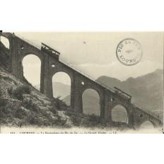 CPA: LOURDES, Funiculaire du Pic du Jer, (Grand Viaduc), vers 1900
