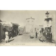 *CPA TUNISIE, vers 1900, TUNIS, LA PLACE DES LEGUMES.