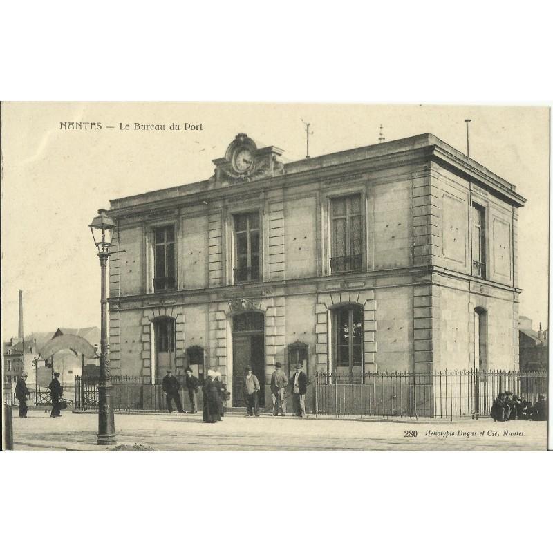 Cpa nantes le bureau du port ann es 1900 vannes for Bureau vannes
