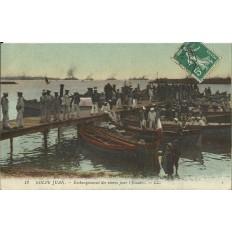 CPA: GOLFE JUAN.MARINE, Embarquement des Vivres, vers 1900