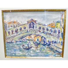 André FRAYE (c.1887-1963), VENISE, AQUARELLE. VENEZIA.