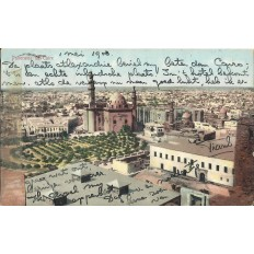 CPA: EGYPTE, Panorama du Caire, années 1900