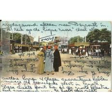 CPA: EGYPTE, Le Caire, Square Ataba El Khadra, années 1900