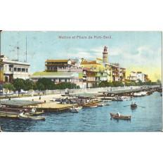 CPA: EGYPTE, Marine et Phare de Port-Said, années 1910
