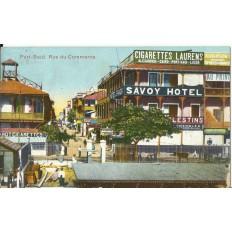 CPA: EGYPTE, Port-Said, Rue du Commerce, années 1910