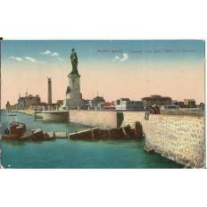 CPA: EGYPTE, Port-Said, Vue Générale et Statue de Lesseps, années 1920