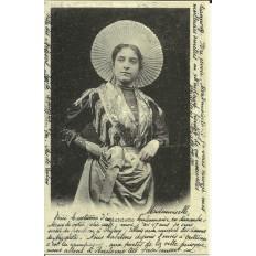 CPA (REPROD): Matelotte de Picardie, vers 1900.