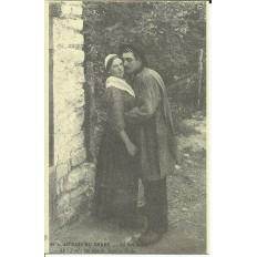 CPA (REPROD): BERRY, Un Bon Bigé, vers 1900.