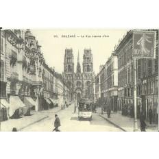 CPA: (REPRO) ORLEANS, La Rue Jeanne d'Arc, vers 1900.