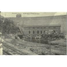 CPA: (REPRO). EGUZON,Barrage et Usine Electrique, vers 1900.