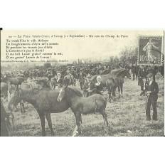 CPA: (REPRO). LESSAY, La Foire Ste-Croix, vers 1900.