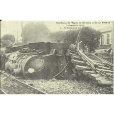 CPA: (REPRO). BERNAY, Déraillement de l'Express, 1910.
