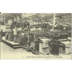 CPA: (REPRO). PICARDIE, Usine Textile Filature et Tissage, vers 1900.
