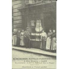 CPA: (REPRO). Blanchisserie Nouvelle Parisienne, CAEN, vers 1900.