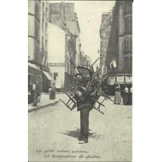 CPA: (REPRO) PARIS, Le Rempailleur de chaises, vers 1900.