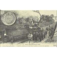 CPA: (REPRO). PARIS, Grève des Cheminots, 1910.