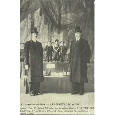 CPA: (REPRO). BEARN. Exhibition. Géants des Alpes, vers 1900.