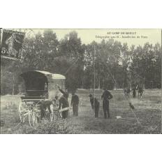 CPA: (REPRO). Au Camp de MAILLY, Télégraphie, vers 1900.