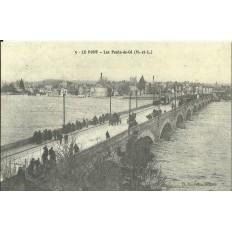 CPA: (REPRO). LES PONTS-de-CE, Le Pont, vers 1900.