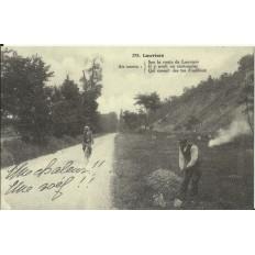 CPA: (REPRO). LOUVIERS, Chanson du Cantonnier, vers 1900.