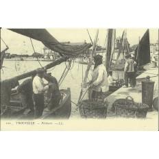 CPA: (REPRO). TROUVILLE, Pecheurs, vers 1900.