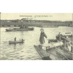 CPA: (REPRO). CORBEIL-ESSONNES, Le Port des Bas-Vignons, vers 1900.