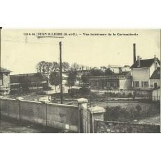 CPA: (REPRO). SURVILLIERS, Vue Intérieure de la Cartoucherie, vers 1900.