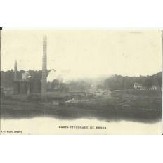 CPA: (REPRO). Hauts-Fourneaux de REHON, vers 1900.