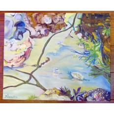 """F.LEMAITRE, Peinture Contemporaine, Bretagne. Série""""Le Poulic"""".2"""
