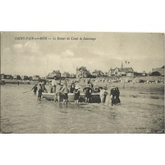 CPA: SAINT-PAIR-SUR-MER, Retour du Canot de Sauvetage, vers 1920