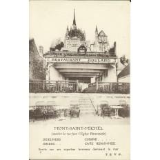 CPA: MONT-SAINT-MICHEL, Restaurant POULARD, vers 1910