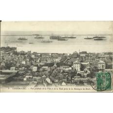 CPA: CHERBOURG, Vue Générale de la Ville et de la Rade, vers 1910