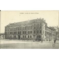 CPA: LYON, Lycée de Jeunes Filles, vers 1900.
