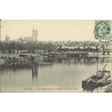 CPA: ANGERS, Vue Générale prise du Pont de la Haute-Chaine, vers 1900.