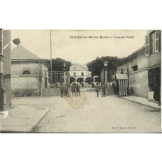CPA: CHALONS-sur-MARNE, Caserne Tirlet, vers 1910