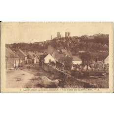 CPA - LAON Avant le Bombardement, vue prise de St-Marcel, Années 1930.