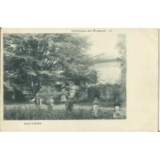 CPA: Chateau du ROQUET, sous le Cèdre, vers 1900