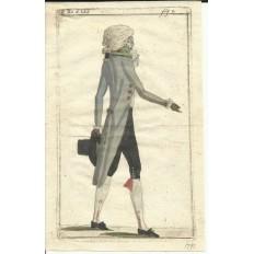 GRAVURE de MODE du XVIIIe s. ENGRAVING FASHION XVIIIth. (4)