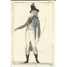 GRAVURE de MODE du XVIIIe s. ENGRAVING FASHION XVIIIth. (7)